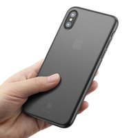 Baseus для iPhone X Гладкая матовая PP чехол для iPhone 11 Pro Max Ultra Thin Назад Телефон Обложка Xs Max Coque