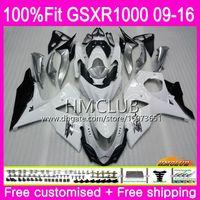 K9 For SUZUKI GSX-R1000 GSXR 1000 09 10 11 12 13 15 16 Gloss white 13HM.14 GSX R1000 GSXR1000 2009 2010 2011 2012 2014 2015 2016 Fairing