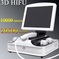 3D HIFU Anti envelhecimento da pele remoção do enrugamento de aperto 20500 tiros Facial High Intensity Focused Ultrasound HIFU Equipment