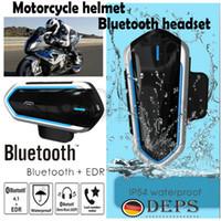 Bluetooth Motosiklet Motosiklet Kaskı Intercom Kulaklık Kulaklık FM MP3 GPS