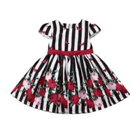 Summer Baby Girls Floral Party Pageant Princess Damigella d'onore Tutu Dressal Formale
