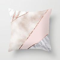 Ev Dekorasyonu 45x45cm Şeftali Kadife Pillow 9styles RRA2905 için Yastık Kılıf Ebru Geometrik Polyester Koltuk Dekoratif Glitter Yastık Kapak