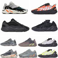 700 V2 Yansıtıcı Turuncu Koşucu Fosfor Kemik Kanye Erkek Koşu Ayakkabıları Karbon Mavi Atalet Statik Geode Utility Siyah Spor Kadın Sneakers