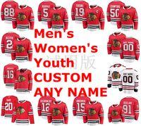 شيكاغو blackhawks الفانيلة باتريك كان جيرسي كونور ميرفي جوناثان تي نيوز كوري كروفورد دنكان كيث الهوكي الفانيلة مخصص خياطة