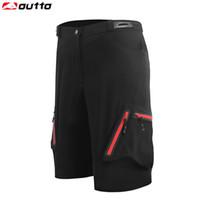 Outto Men's Cycling Shorts Vélo VTT Vélo Respirant Shorts Desserrés Camping Course À Pied Shorts De Sport En Plein Air M-XXL XXXL