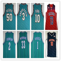 NCAA Michael Mike Bibby Basketball Jersey Bryant Reeves Abdur Rahim Muggsy Bogues Larry Johnson Alonzo Mourning Pistol Pete Maravich Ayton