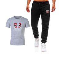 Cotton casual LOGO printing men' s T- shirt suit fashion ...