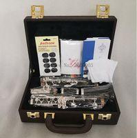 Klarnet Büfe E13 Modeli Yeni Profesyonel krampon Bb Klarnet   Gümüş Kaplama 17 Tuşlar Bir varil Yeni