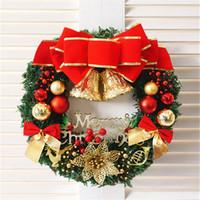 """11.8"""" Puerta Corona de Navidad hecha a mano de ratán colgante Garland ventana delantera Adornos artificial Corona de Navidad Decoración JK1910"""