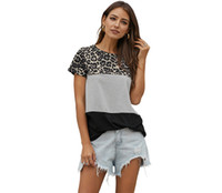 Wholesale 2020 New Women Short Sleeve Leopard Print Home T- S...
