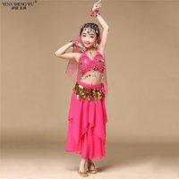 Stage Wear Grils Belly Dance Costumes Oriental BellyDance Pak Kinderen Egyptian Bollywood Kids Dancing 2 / 3PCS Set