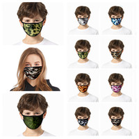 Europe and America 3D camouflage mask printed dust mask face...