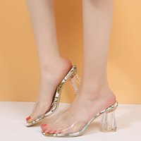 Summer Transparent Slippers Women Outdoor Casual Open Toes H...