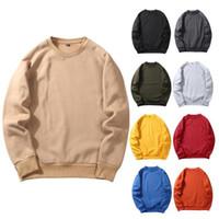 Pamuk Erkek Kazak Polar Kazak Nedensel Erkek Hoodies Uzun Kollu İlkbahar Sonbahar Kış Sweatershirt olmayan Kapüşonlu Streetwear AB boyutu WY19
