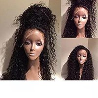 360 Lace Frontal Wigs Pre Plucked 180% Density Brazilian Cur...