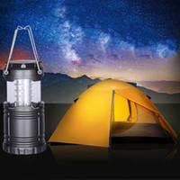 Escursionismo Torcia 5AA alimentato a batteria ad alta potenza 30 LED pieghevole lanterna esterna Lampada da campeggio portatile appeso torce DH1309