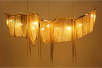 현대 샹들리에 조명기구 알루미늄 체인 빈티지 골드 펜 던 트 램프 Living room에 대 한 luminaire 서스펜션 호텔 실내 조명