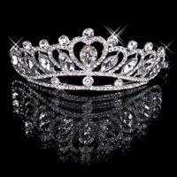 Freier Verschiffen-Haar Tiaras Im Lager Günstige 2020 Diamant-Strass Hochzeit Kronen-Haar-Band-Tiara Brautabschlussball-Abend Schmuck Kopfbedeckungen 18025