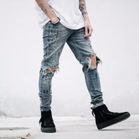 2019 mens designer clothes denim jumpsuit jean pants korean ...