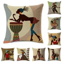 African Woman Dancing Cushion Cover Love Music Happiness Afr...