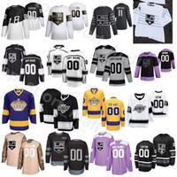 2020 Estadio de la serie Los Angeles Kings Hockey 26 Sean Walker Jersey 46 Blake Lizotte 10 Michael Amadio 13 Kyle Clifford Matt Roy personalizada