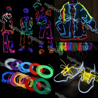 LED flexível Neon Light 1M 2M 3M Brilho EL Faixa de tubo fresco Wire Rope Dance Party Natal Halloween LED Decor Light Strip DHL