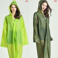 EVA плащ 22 цвета Женщины мужчины водонепроницаемый дождь пончо прозрачный кемпинг толстовка дождевик костюм LJJO7850