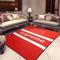 Double Color Stripe Carpet New White Red Logo Simple Pattern...