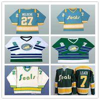 السبعينيات من القرن الماضي ، كاليفورنيا ، ذهبية ، الأختام ، 27 جيلًا ، ميلوش ، 7 ريجي ليخ ، جيرسي ، خمر ، مخيط ، أبيض ، أزرق ، أصفر ، حجم بديل ، S-4XL