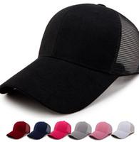Yetişkin at kuyruğu şapka düz renk Yaz Yeni Klasik Trucker Çocuklar Beyzbol Mesh Cap Yüksek Bun at kuyruğu parti şapkaları LJJK2223