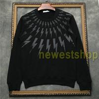2020 neue Art und Weise Europa-Männer Kragen weiß schwarz Geometrie Druck Sweatshirt Männer Kleiden Hoodies hochwertige Designer Sweatshirt Top Jumpers