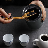 Bambu Tea Kaffe Spoon Shovel Matcha Powder Tesked Scoop Chinese Kung Fu Tool 18 * 3cm