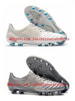2021 Quality Mens Sapatos de futebol Morelia Neo II FG Cleaves de couro Botas de futebol Scarpe da Calcio Branco