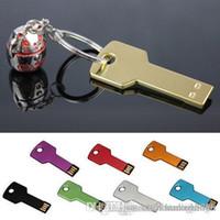 HK Марка 4GB 8GB 32GB 64GB Key Pen Drive Memoria флэш USB памяти металла llavero U дискотеке