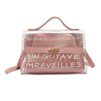 ab3ae7b013f87 New Design Women Transparent Bag Clear PVC Jelly Small Tote Summer Beach Bag  Messenger Bags Female Crossbody Shoulder Bags