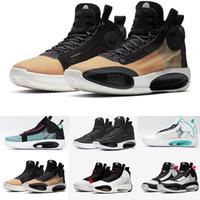 jumpman xxxiv 34 이클립스 신발 블루 void 녹색 흰색 검은 빨간색 망 농구 신발 고품질 34s 남자 스포츠 스니커즈