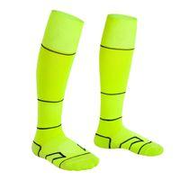 الأصفر الطفل الجوارب الأطفال الجوارب الجوارب لكرة القدم للأطفال أكثر من الركبة التدريب سوك سوك كرة القدم سميكة منشفة أسفل عرق ماصة الرياضة سوك