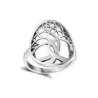 Anello unico vintage vintage albero della vita gioielli in argento sterling 925 anello esagerato scava gioielli da donna elegante regalo gioielli donna