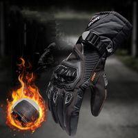 Guantes de motocicleta Impermeable Hombres largos Cálidos 4 estaciones Paseo Ciclismo Montar a caballo Guante Táctico Anti-Off-Road Grossed