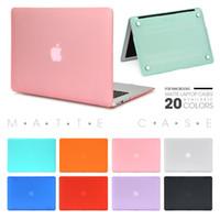Caja del ordenador portátil para Apple Macbook MacBook Air Pro Retina Nueva Touch Bar 11 12 13 15 pulgadas duro portátil caso de la cubierta 13.3 ins bolsa de Shell