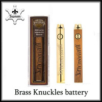Brass Knuckles vape Battery 650mAh 900mAh gold wood Variable...