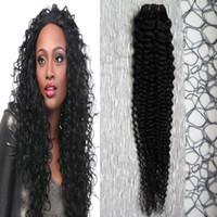 Capelli crespi peruviani ricci 100% Biondi Capelli umani Fasci di tessuto 100 Estensioni di capelli di Remy 20 24 18 14 pollici 1 fasci