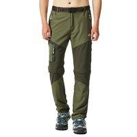 Moda-2019 Nuevos hombres Pantalones de senderismo Pantalones de pesca al aire libre Sretch impermeable a prueba de viento Camping Jogger de secado rápido Climing Trekking Legging