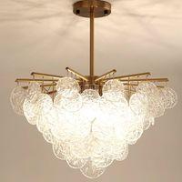 현대 샹들리에 조명 Nevelty Luster Lamparas colgantes 침실 거실 용 램프 Luminaria 천장 팬 빛 LED CrystalChandeliers
