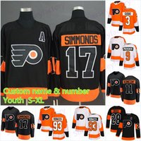 Juventude 17 Wayne Simmonds Philadelphia Flyers Jerseys 93 Jakub Voracek 79 Carter Hart 87 Sidney Crosby 28 Claude Giroux Hockey Jersey