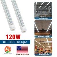 8' T8 LED Röhren FA8 V-Form 8ft Integrierte LED-Licht 8 ft Arbeits-Licht-45W 120W 96 '' zweireihig Neonröhren