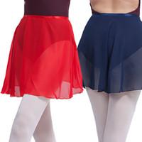 Etapa desgaste profesional ballet tutus adulto gasa gimnasia falda para mujeres niñas traje de baile skate wrap bufanda