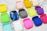 100 PCS Pour Apple AirPods De Protection Antichoc Silicone Pochette Retail Pack Pour iPhone 7 BT Écouteur