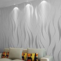 Oda Yatak Salon Ev Dekorasyonu Kabartma Duvar Kağıdı, Gri, Bej, Beyaz, Mor İçin Modern 3D Özet Geometrik Duvar Kağıdı Rulo