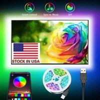 5050 DC 5V USB RGB LED 스트립 30LED / M 가벼운 스트립 블루투스 앱 TV 배경 + 재고가있는 유연한 3M